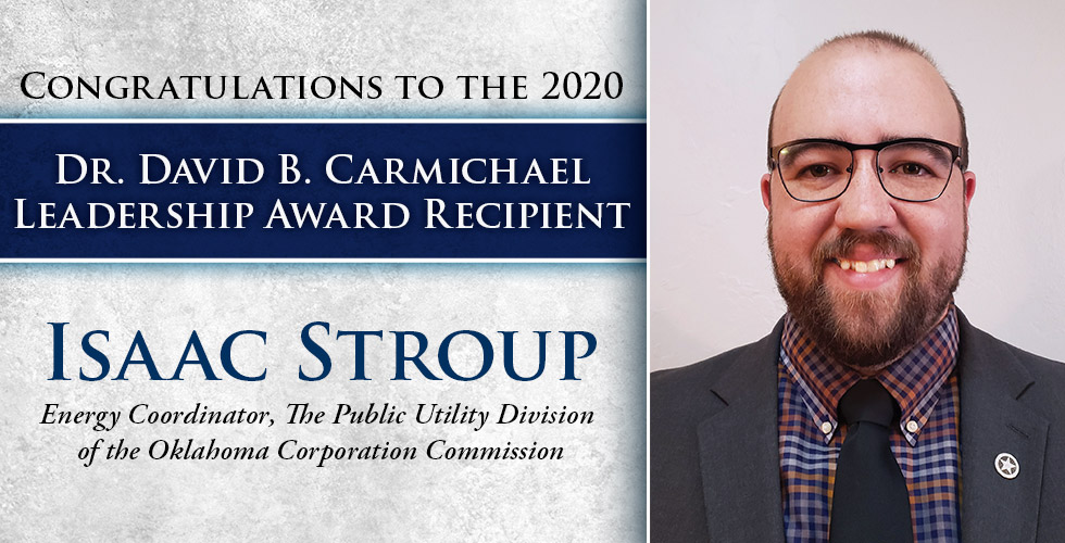 Congratulations to 2020 Carmichael Leadership Award Winner Isaac Stroud