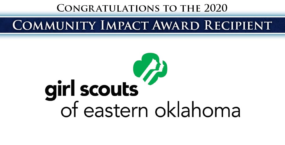 Congratulations to 2020 Community Impact Award Winner Girl Scouts of Eastern Oklahoma