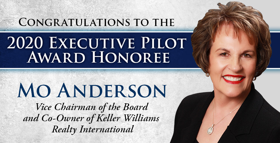 Congratulations to 2020 Executive Pilot Award Honoree Mo Anderson